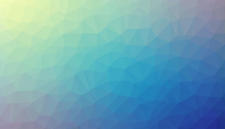 Vecteur de texture de fond triangulé bleu