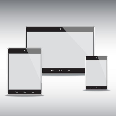Mobile tablet devices vector illustration
