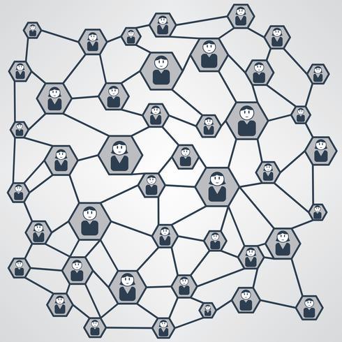 Ilustración de vector de red de negocios