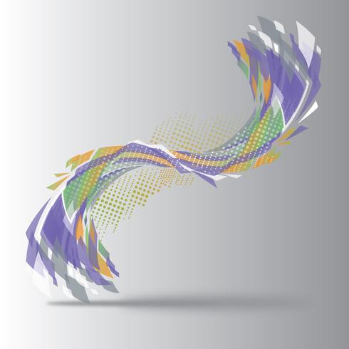 Vetorial, ilustração, de, abstratos, forma, 01
