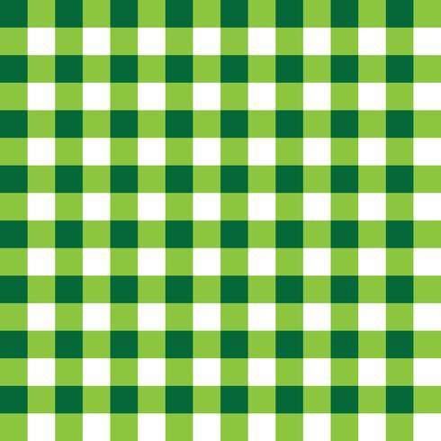 Tissu à carreaux vert foncé et vert clair