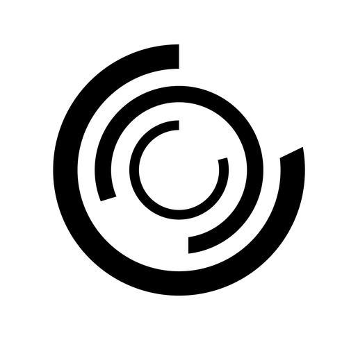 Konzentrische Technologie kreist Logo ein