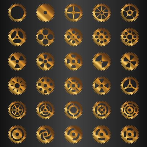 Collezione di ingranaggi d'oro