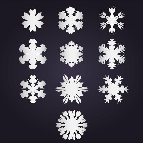 Snowflake vektor samling