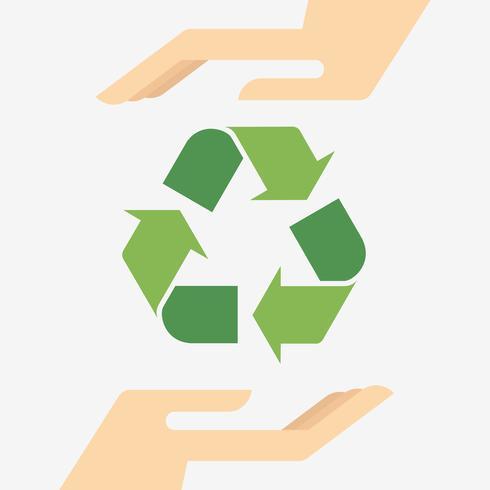 Reciclar, vetorial, ilustração