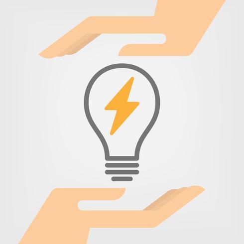 Ilustração vetorial de poupança de energia vetor