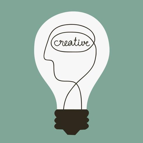 Idée créative. Illustration de dessin animé mignon doodle.