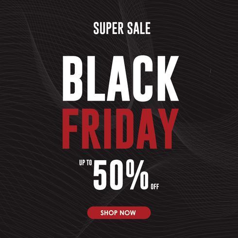 Conception de vecteur affiche vendredi vente noire