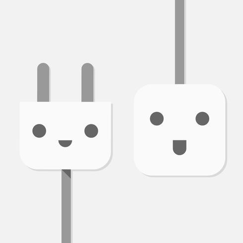 illustration vectorielle de prise électrique