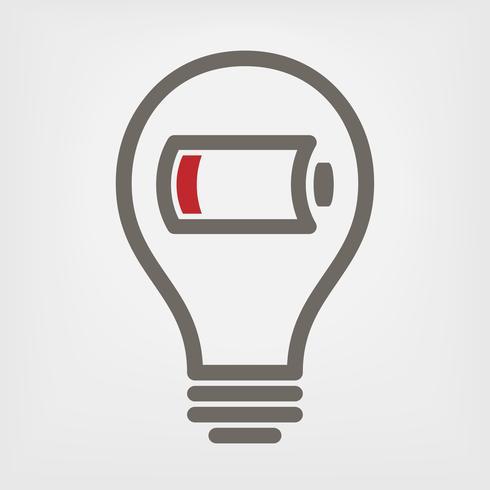 illustration vectorielle de batterie faible