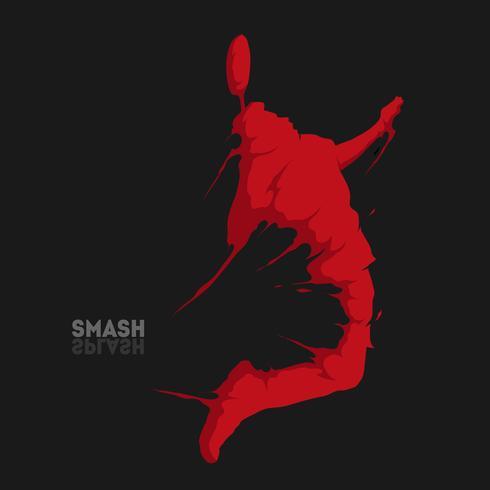 badminton smash splash