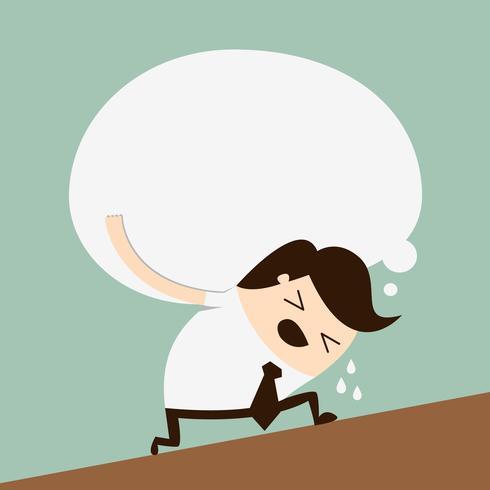 Concepto de un empresario cansado vector