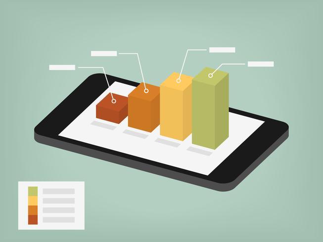 gráfico na tela do celular