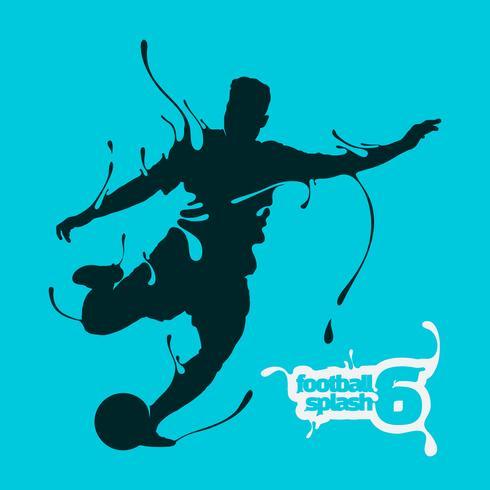 silueta de fútbol splash 6