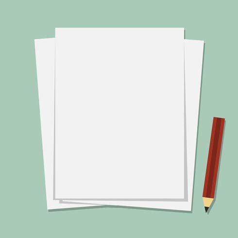 Papier. Illustration de dessin animé mignon.