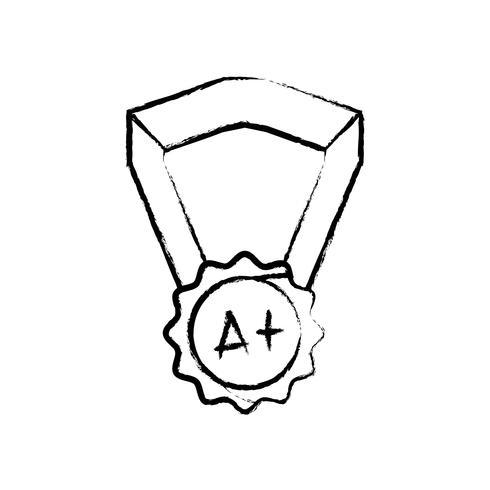 Abbildung Schulmedaille Symbol für intelligente Schüler