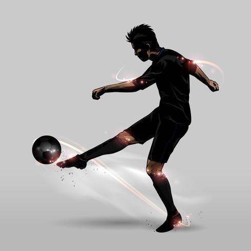 Fußballspieler halbe Salve