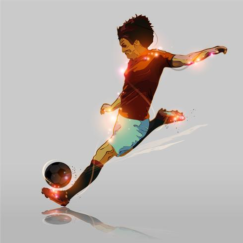 soccer abstraite tir difficile