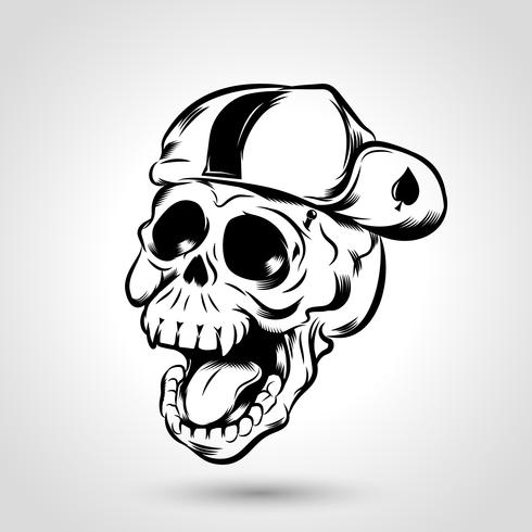 Punk-Totenkopfmütze
