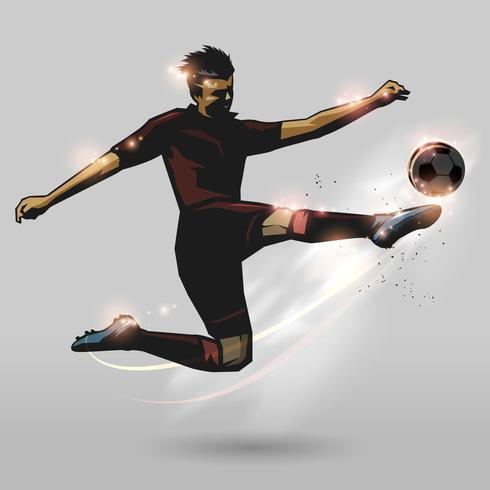 soccer half volley vector