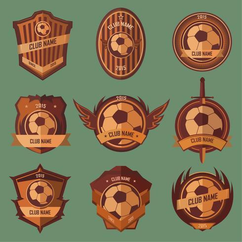 Emblemas de balones de futbol