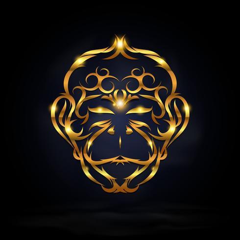 scimmia d'oro astratta
