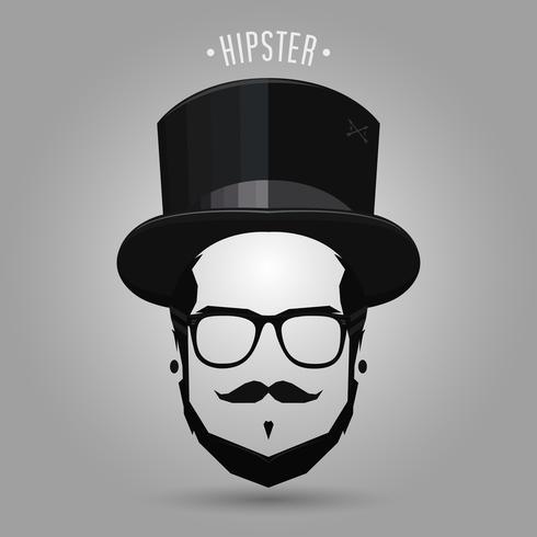 cartola hipster vetor
