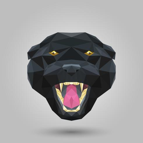 Geometrische zwarte panter