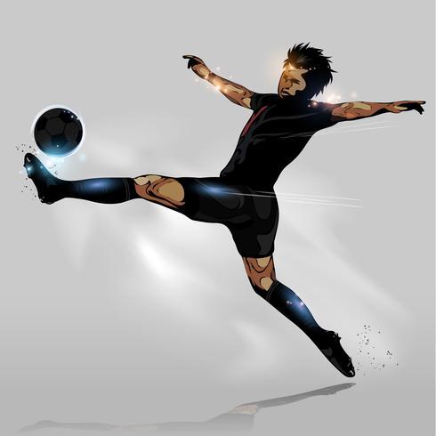 bola de futebol abstrata tocando