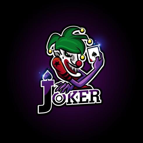 logotipo do esport do joker vetor