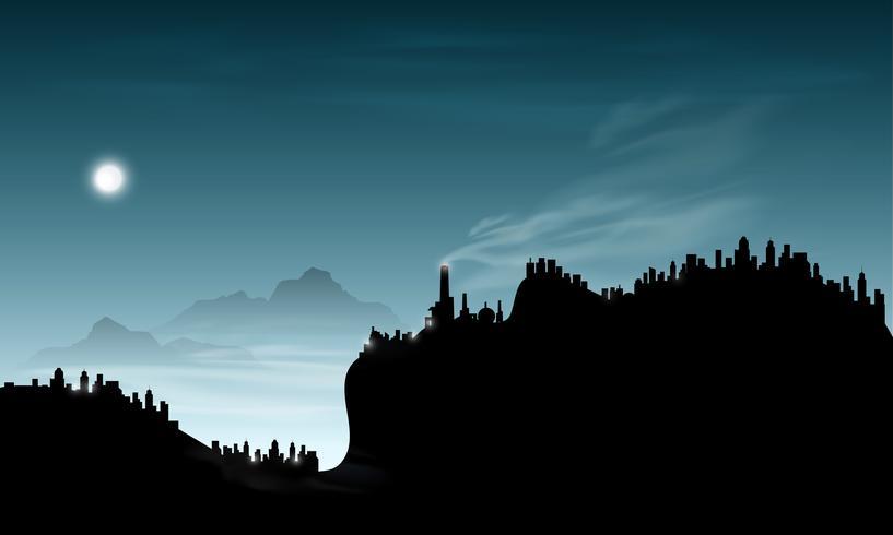 abstract smoke mountain