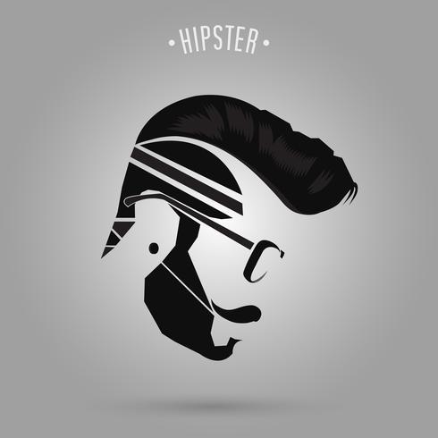style de cheveux hipster vecteur