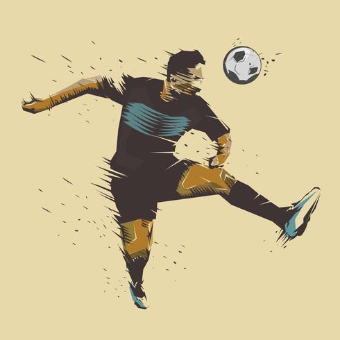 Fußball springen Tintenspritzer