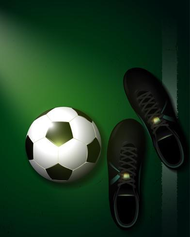 groene voetbal achtergrond vector