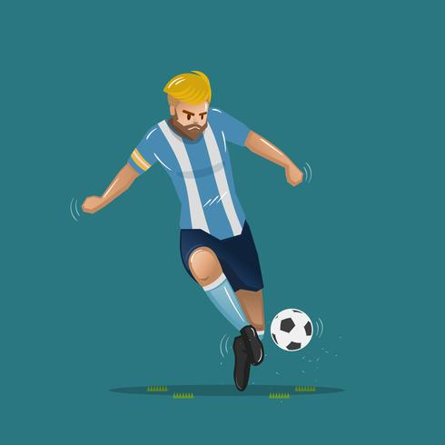 cartone animato di calcio che passa