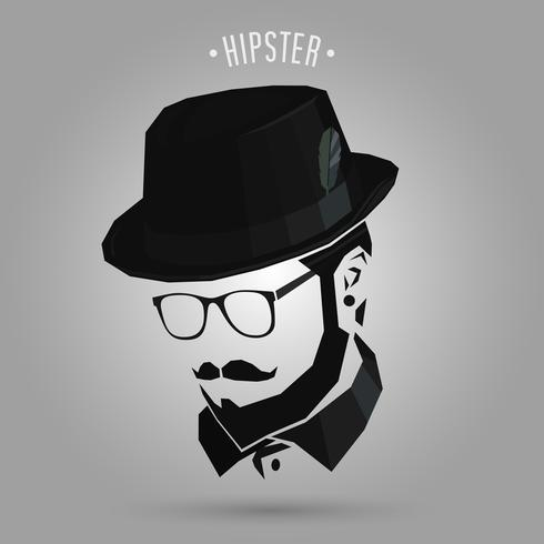 Hipster mit Hut