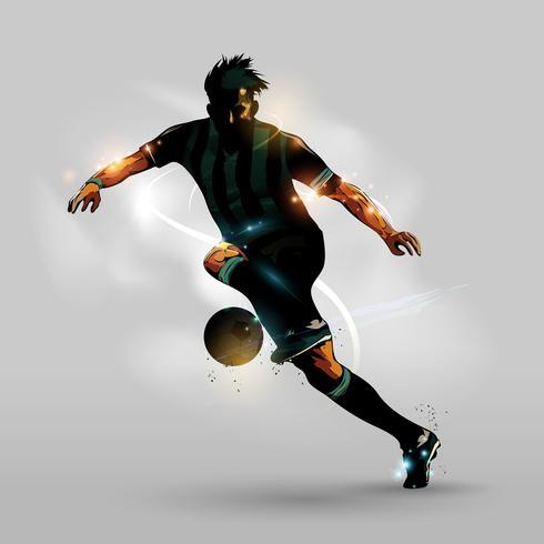 Football abstrait avec ballon