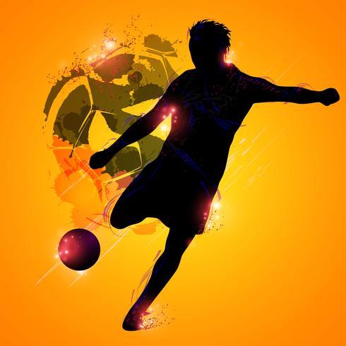 Joueur de foot fantastique vecteur