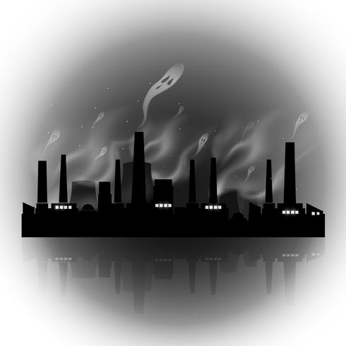 Abstracte vervuilingsfabriek vector