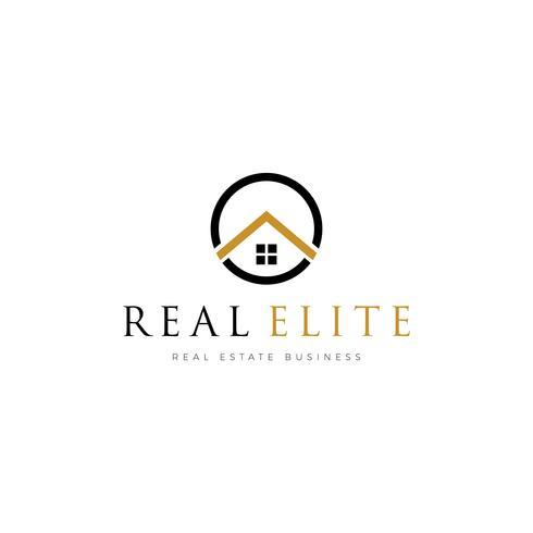 Semplice modello di proprietà immobiliari Logo