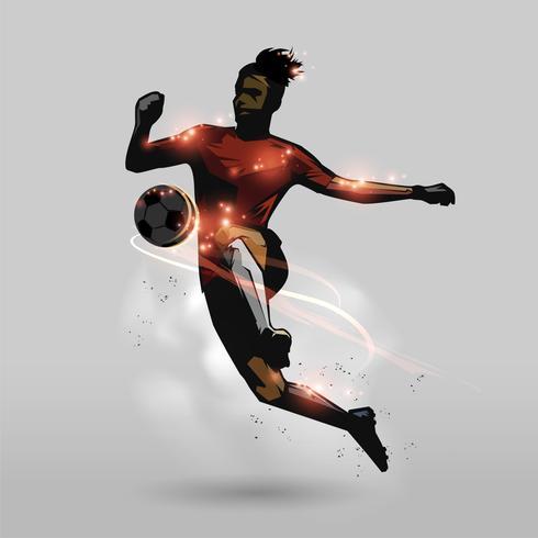 tocco di calcio sulle ginocchia