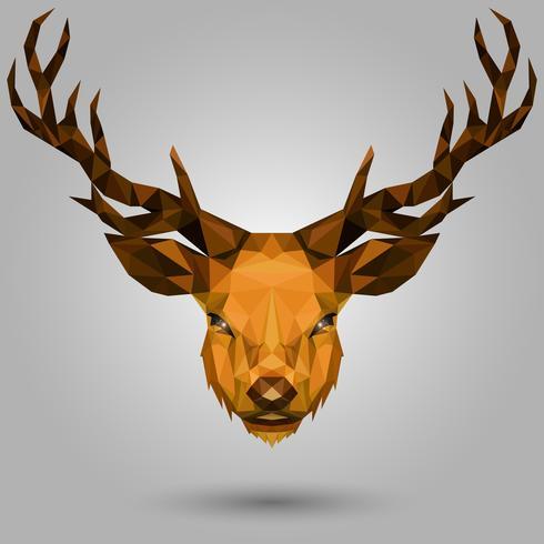 Geometric deer head - Download Free Vectors, Clipart ...