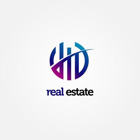 Logotipo de propiedad abstracta moderna