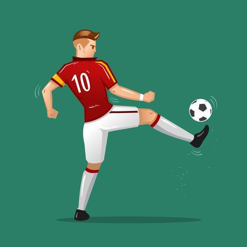 bola de toque de desenhos animados de futebol vetor