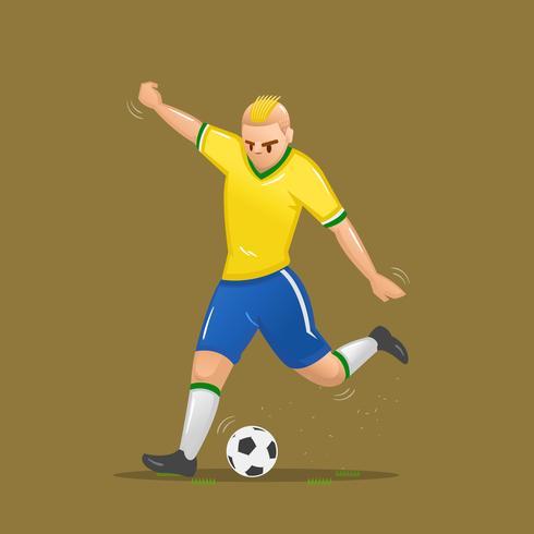 tiro de desenhos animados de futebol