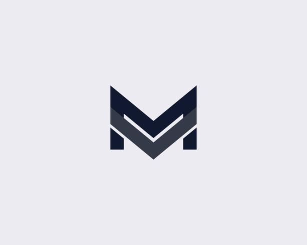 Simple Letter M Logo Design Template vector
