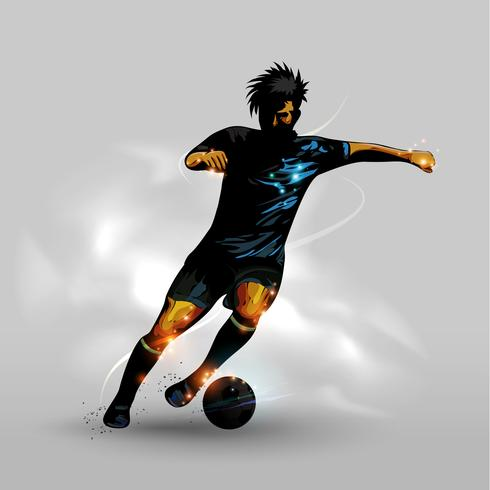 Abstract dribbling soccer ball vector