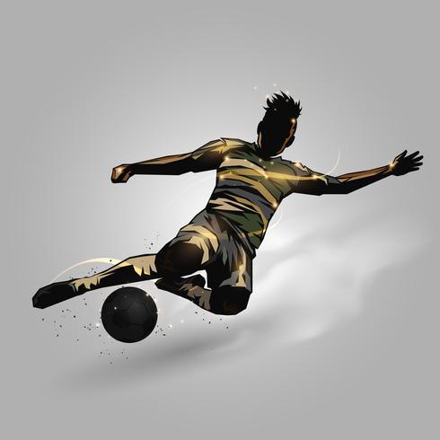 soccer player slide tackle