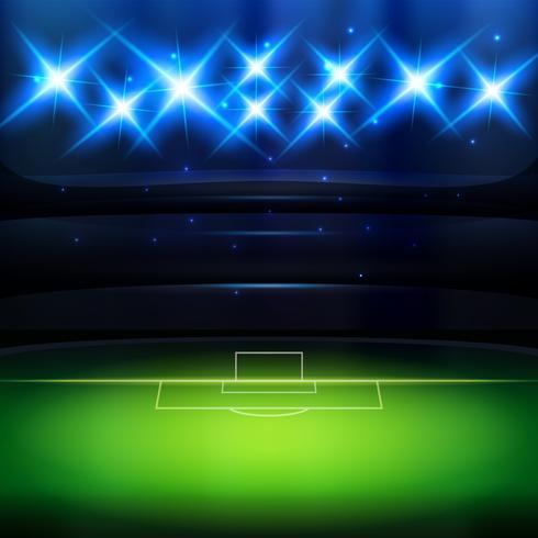 Fondo de fútbol con foco. vector