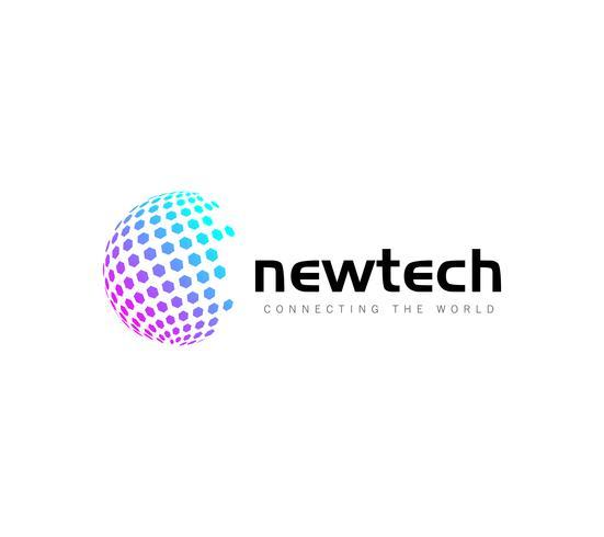 Modelo de Design de logotipo de negócio globo colorido
